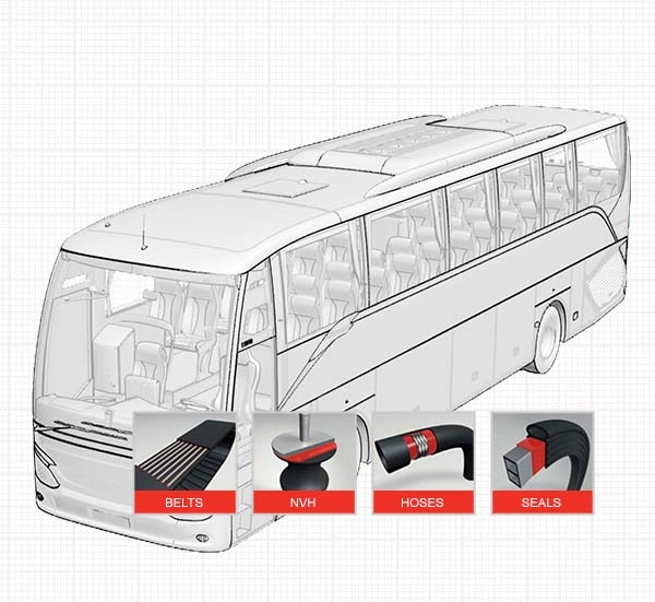 Bus Rubber To Substrate Bonding
