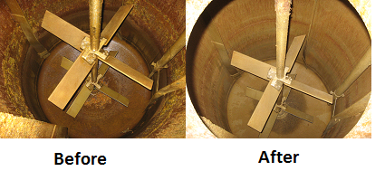LORD LokRelease 800/810 Adhesive Stripping Solutions - Tank Cleaning Before | After