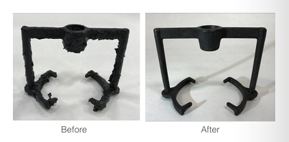 LORD LokRelease 800/810 Adhesive Stripping Solutions - Spray Fixture Cleaning Before | After