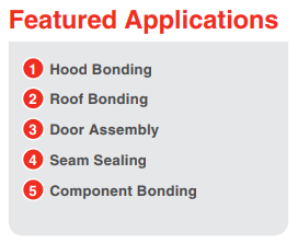 LORD Structural Adhesives for Off-Highway & Heavy-Duty Equipment – Featured Applications Include – Hood Bonding, Roof Bonding, Door Assembly, Seam Sealing, Component Bonding, and more.