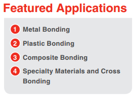 LORD Structural Adhesives for Product Assembly & Industrial Manufacturing – Featured Applications Include – Metal Bonding, Plastic Bonding, Composite Bonding, Specialty Materials and Cross Bonding,  and more.