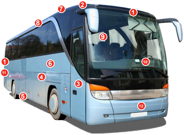 LORD Structural Adhesives for Bus & Rail Vehicles – Featured Applications Include – Front & Rear Shell Bonding, Roof Bonding, Door Panel Bonding, Side Panel Bonding, Luggage Door, Side Glass Bonding, Roof Hatch, Air Conditioning Cover, Interior Parts, Frond Dash and Panel Components, Rear Engine Cover, Front Bumper and Grill, and more.