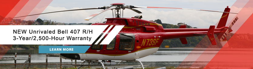 New Unrivalved Bell 407 R/H 3-Year/2,500-Hour Warranty