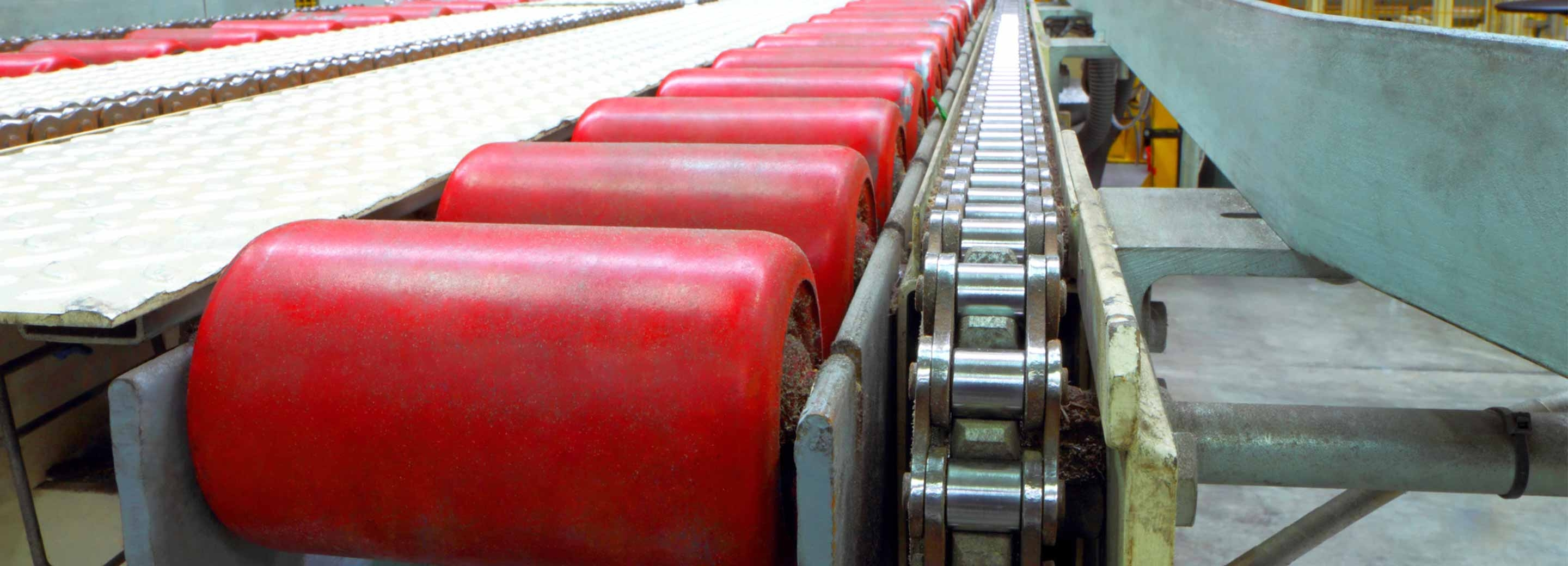 red rubber rollers