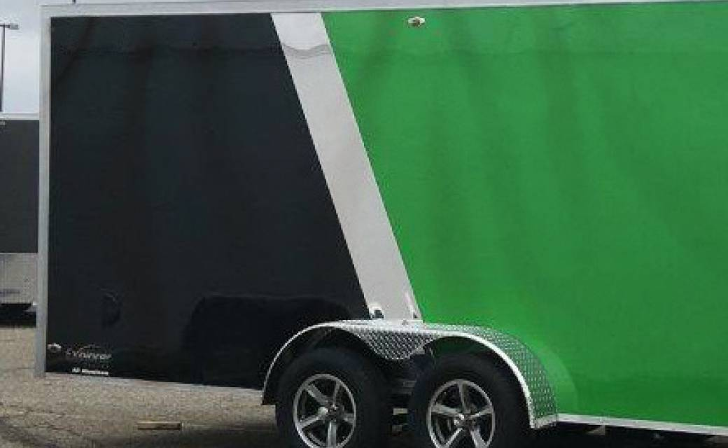 Black and Green Trailer with No Rivets or Welding