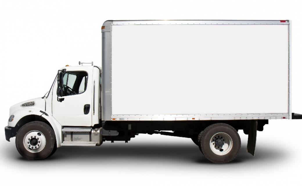 white box truck with structural adhesives