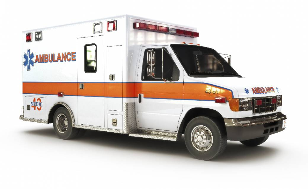 white and orange ambulance